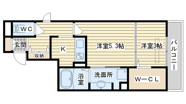 茨木市舟木町の賃貸物件間取画像
