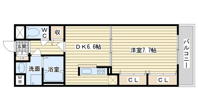 茨木市大住町の賃貸物件間取画像