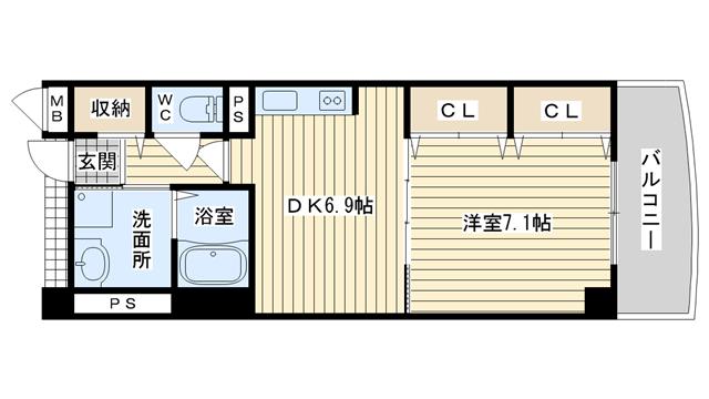 茨木市畑田町の賃貸物件間取画像