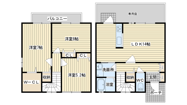 茨木市奈良町の賃貸物件間取画像