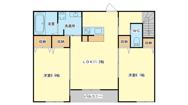 茨木市大池の賃貸物件間取画像