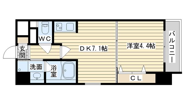 茨木市双葉町の賃貸物件間取画像