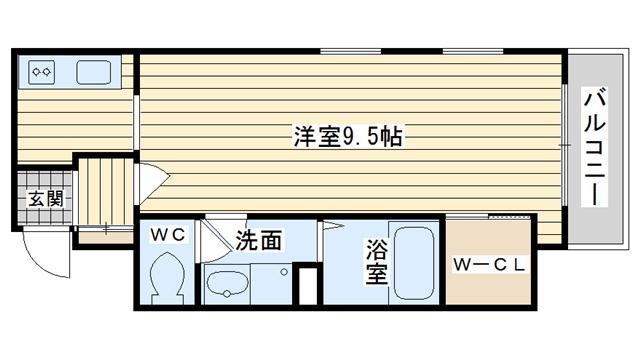 茨木市西中条町の賃貸物件間取画像